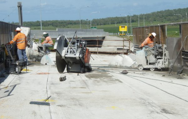 Floor Sawing Bridge Demolition