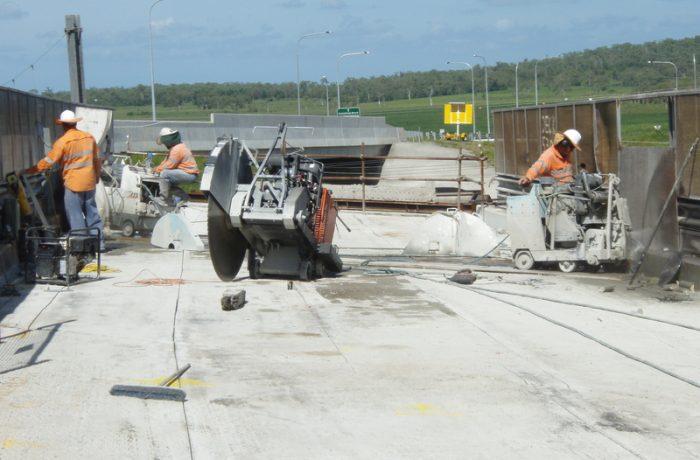 Floor Sawing Bridge Demolition