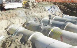 Wire sawing concrete pipes (limited access)